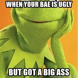 Kermit the frog - when your bae is ugly but got a big ass