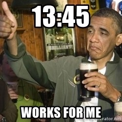 THUMBS UP OBAMA - 13:45 Works for me