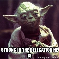 Yoda - Strong in the delegation he is