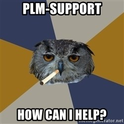 Art Student Owl - PLM-Support how can I help?