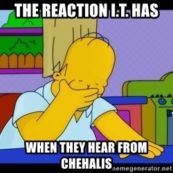 Homer Facepalm - the reaction I.T. has when they hear from chehalis