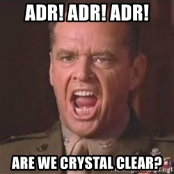 Jack Nicholson - You can't handle the truth! - ADR! ADR! ADR! ARE WE CRYSTAL CLEAR?