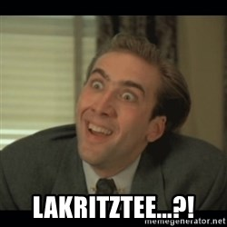 Nick Cage - Lakritztee...?!