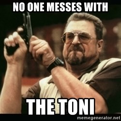 am i the only one around here - No one messes with the toni