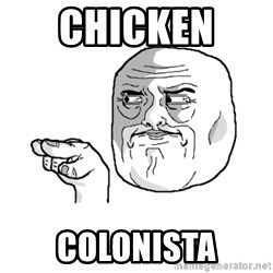 i'm watching you meme - chicken  colonista