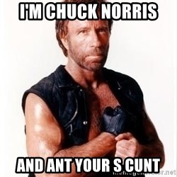 Chuck Norris Meme - I'm Chuck Norris  And ant your s cunt
