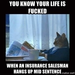 i should buy a boat cat - You know your life is fucked When an insurance salesman hangs up mid sentence