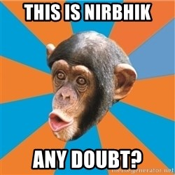 Stupid Monkey - This is nirbhik any doubt?