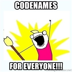 All the things - Codenames For everyone!!!