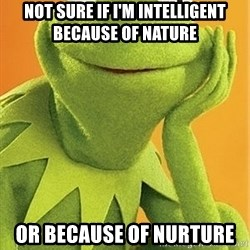 Kermit the frog - Not sure if I'm intelligent because of nature or because of nurture