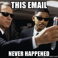 men in black - This email Never Happened
