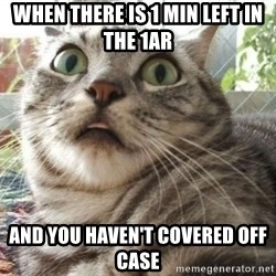 scared cat - When there is 1 min left in the 1AR and you haven't covered off case