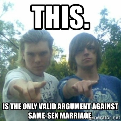 god of punk rock - this. is the only valid argument against same-sex MARRIAGE.