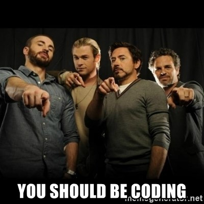 avengers pointing - You should be coding
