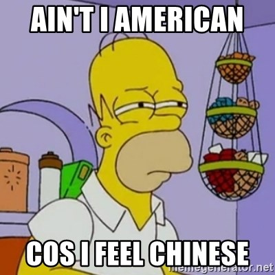 Simpsons' Homer - AIN'T I AMERICAN  COS I FEEL CHINESE