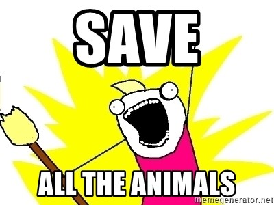X ALL THE THINGS - SAve all the animals