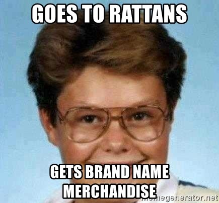 good luck larry hd - Goes to rattans gets brand name merchandise