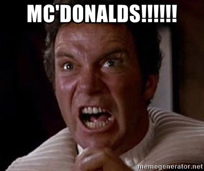 Khan - Mc'Donalds!!!!!!