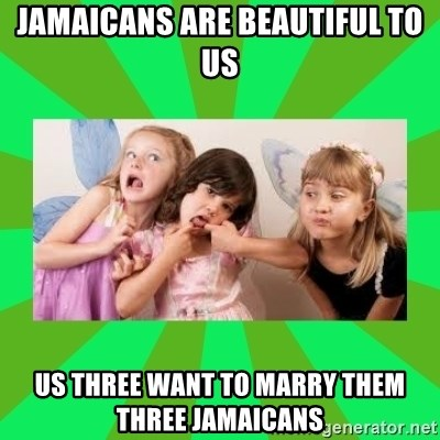 CARO EMERALD, WALDECK AND MISS 600 - jamaicans are beautiful to us us three want to marry them three jamaicans
