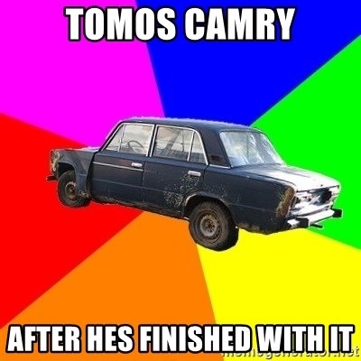 AdviceCar - TOMOS CAMRY AFTER HES FINISHED WITH IT