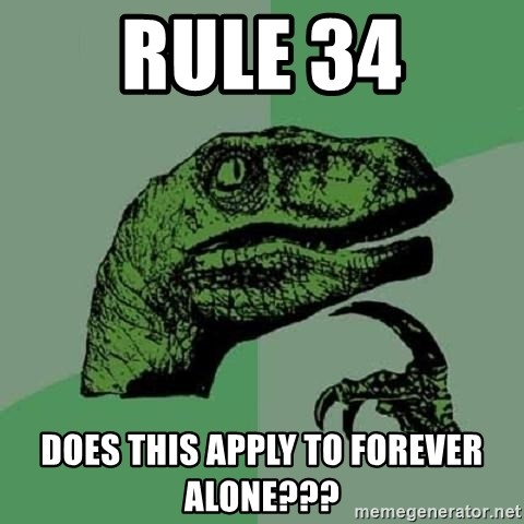 Philosoraptor - Rule 34 Does this apply to forever alone???
