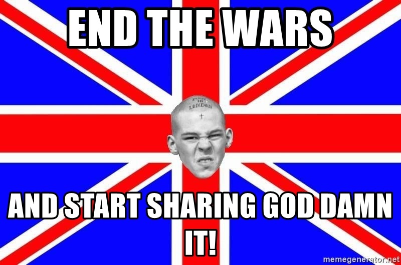 Mad Skin - end the wars and start sharing god damn it!