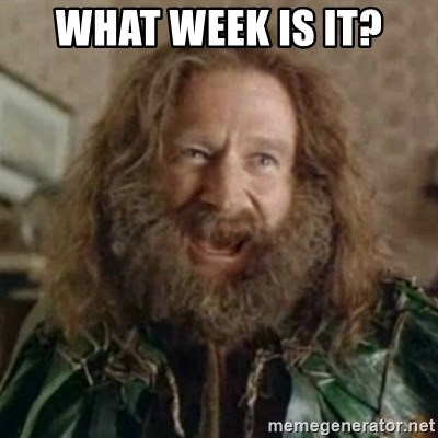 What Year - WHAT WEEK IS IT?