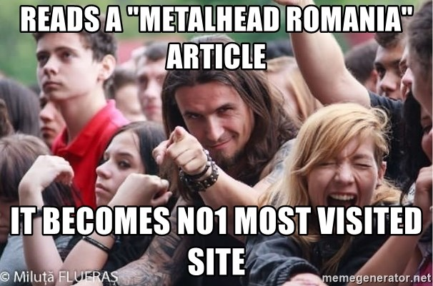 """Ridiculously Photogenic Metalhead Guy - Reads a """"Metalhead romania"""" article It becomes no1 most visited site"""