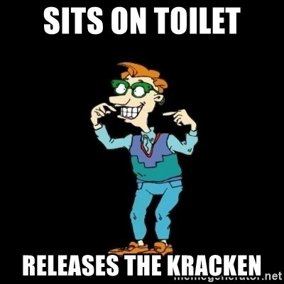 Drew Pickles: The Gayest Man In The World - Sits on toilet releases the kracken