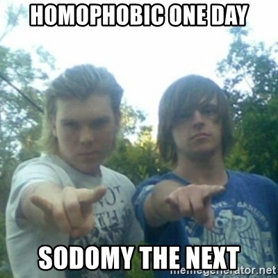god of punk rock - Homophobic one day sodomy the next