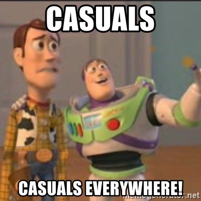 Buzz - casuals casuals everywhere!