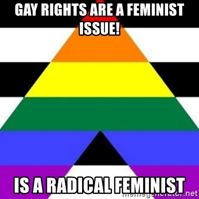 Bad Straight Ally - Gay rights are a feminist issue! Is a radical feminist