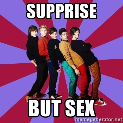 typical 1D - supprise but sex