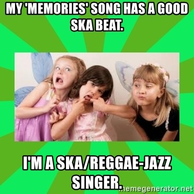CARO EMERALD, WALDECK AND MISS 600 - my 'memories' song has a good ska beat. i'm a ska/reggae-jazz singer.