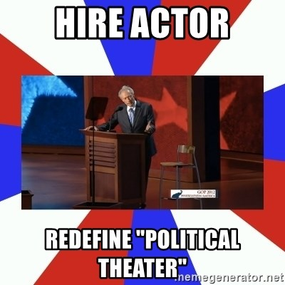 "Invisible Obama - Hire actor redefine ""political theater"""