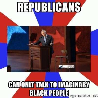 Invisible Obama - Republicans can onlt talk to imaginary black people