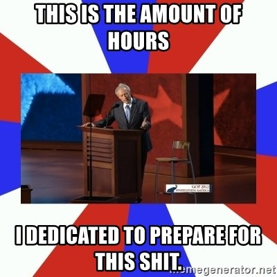Invisible Obama - This is The amount of hours I dedicated to prepare for this shit.