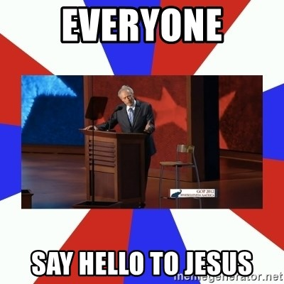 Invisible Obama - everyone say hello to jesus