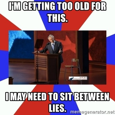 Invisible Obama - I'm getting too old for this. I may need to sit between lies.