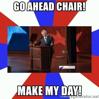 Invisible Obama - Go Ahead Chair! Make My Day!
