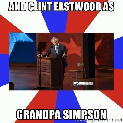 Invisible Obama - And Clint eastwood as Grandpa Simpson