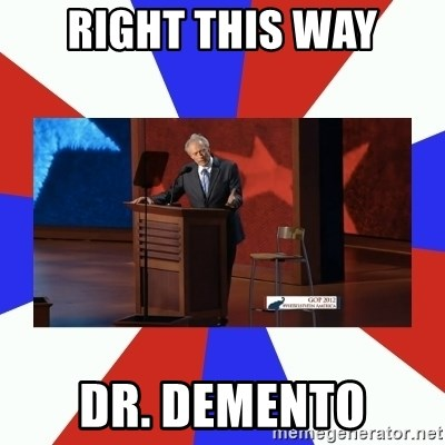 Invisible Obama - right this way dr. demento