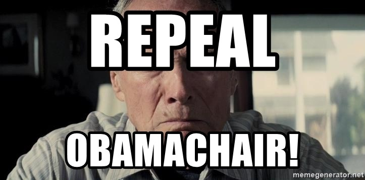 Racist Clint Eastwood - Repeal Obamachair!