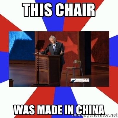 Invisible Obama - This Chair was made in china
