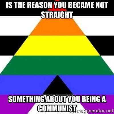 Bad Straight Ally - is the reason you became not straight something about you being a communist