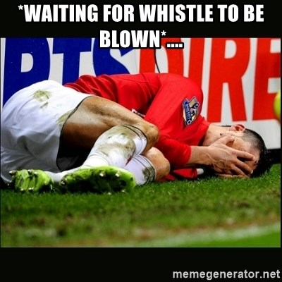 cristiano ronaldo crying - *waiting for whistle to be blown*....