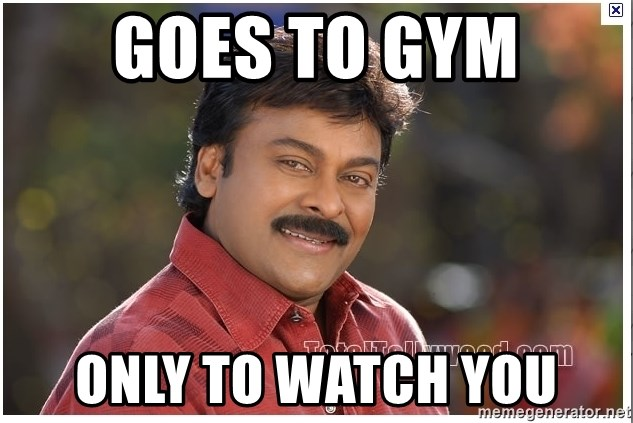 Typical Indian guy - GOES TO GYM ONLY TO WATCH YOU