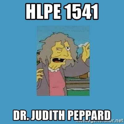 crazy cat lady simpsons - HLPE 1541 DR. Judith peppard