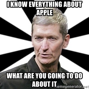 Tim Cook Time - I know everything about apple What are you going to do about it