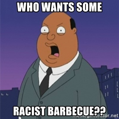 ollie williams - who wants some racist barbecue??